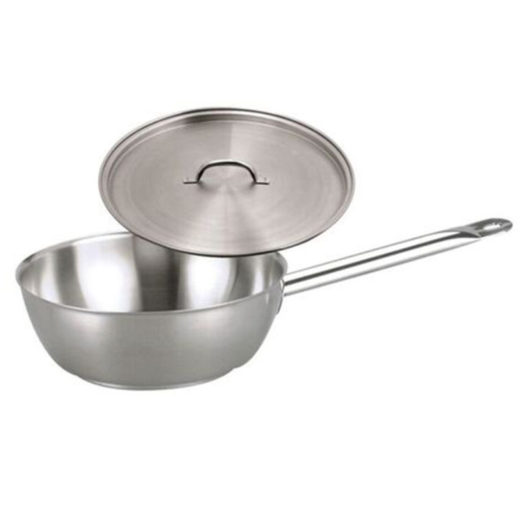 Chef Inox Elite S/Steel Saute Pan 5.8Ltr – with lid
