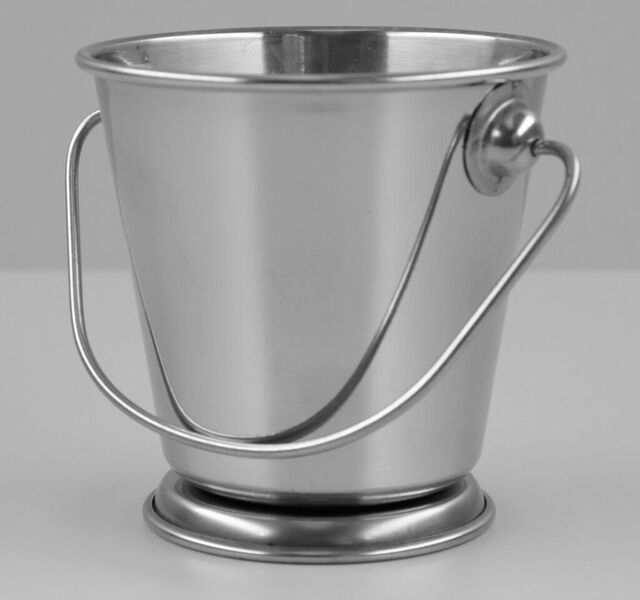 Chef Inox Mini Serving Pail Footed 70mm Diameter