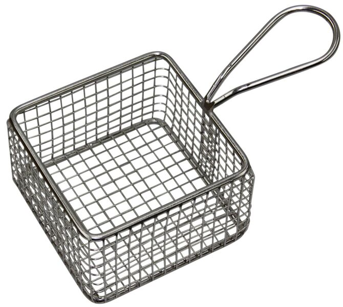 Chef Inox Square Wire Basket with Handle 95mm Length