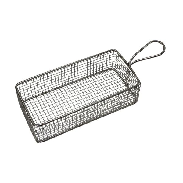 Chef Inox Rectangle Wire Basket with Handle 220mm Length