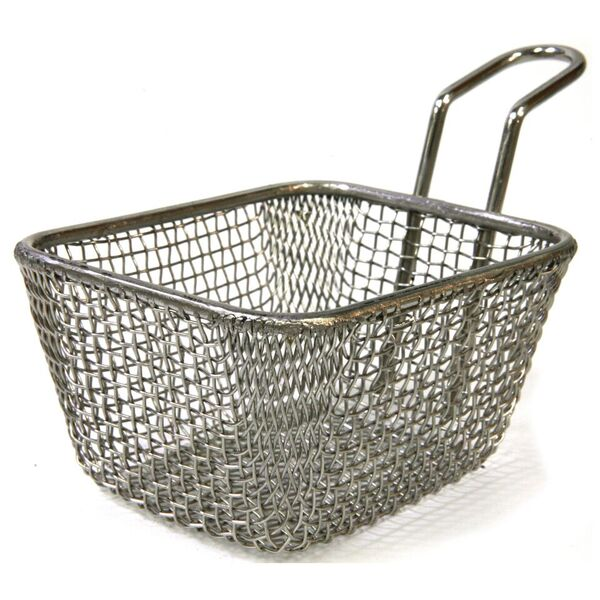 Chef Inox Rectangle Wire Basket with Handle 100mm Length