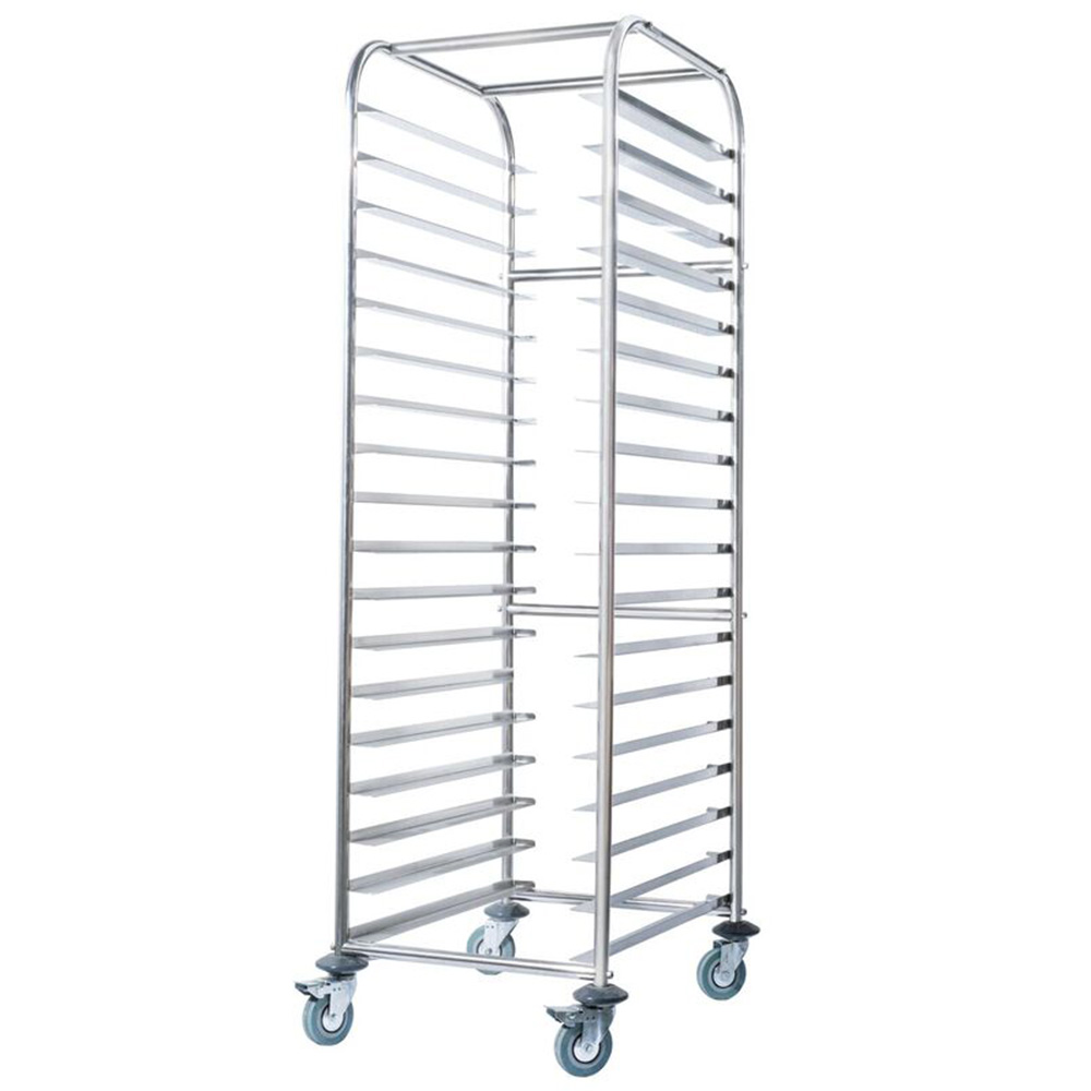 Simply Stainless Mobile Tray Trolley Bakery