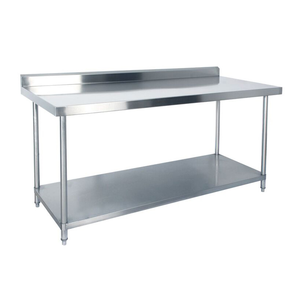 Kss Stainless Steel Bench With Splashback 1800mm