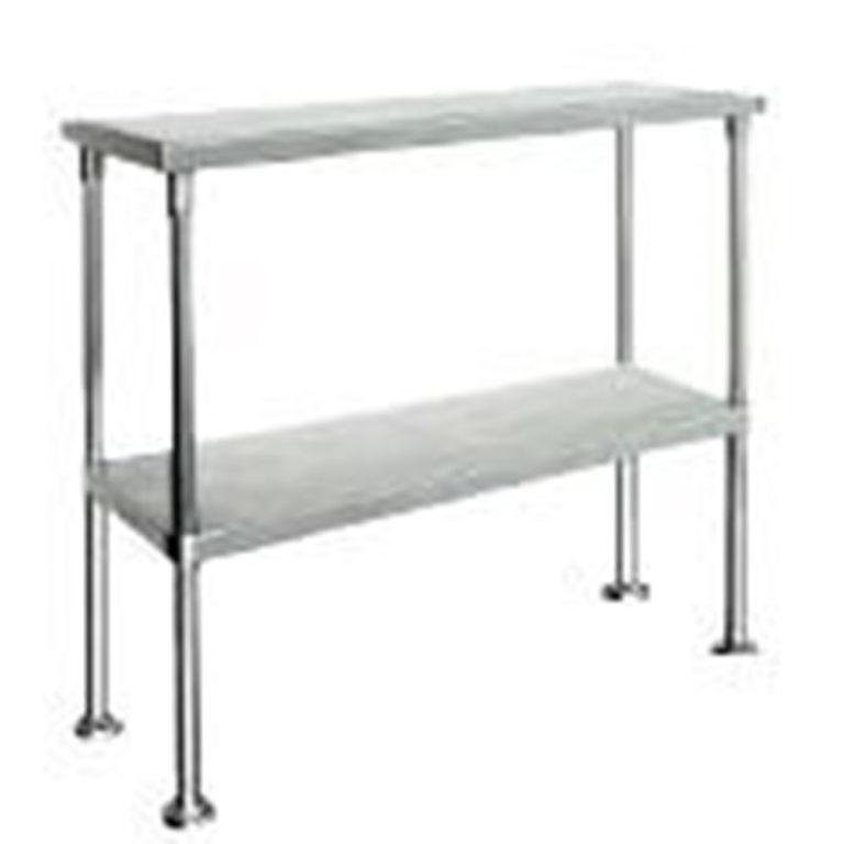 KSS S/Steel Double Over Bench Shelf 1500mm