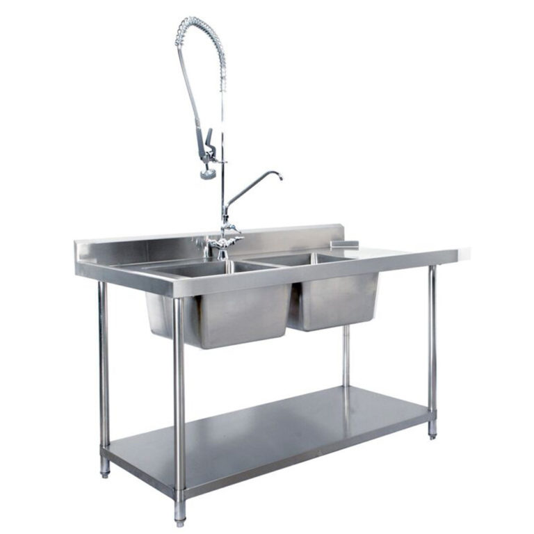 KSS S/Steel Dishwasher Inlet Sink Bench (Double Sink) R to L Flow