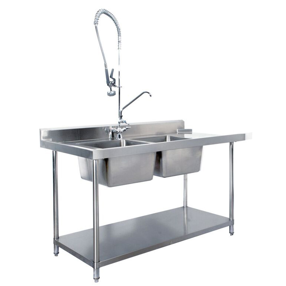 KSS S/Steel Dishwasher Inlet Sink Bench (Double Sink) L To