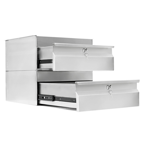 Simply Stainless S/Steel Drawer Double Drawer SS19.0200