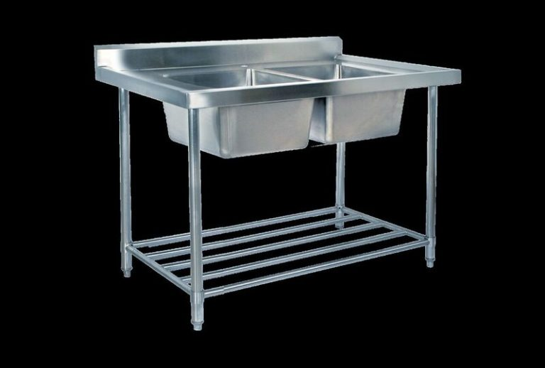 KSS Stainless Steel Sink Bench (Double Sink) 1200mm
