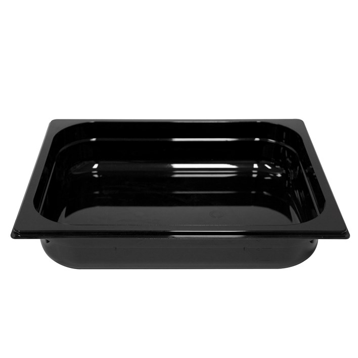 Polycarb PC-12065BK Gastronorm Black Food Pans 1/2 65mm Deep