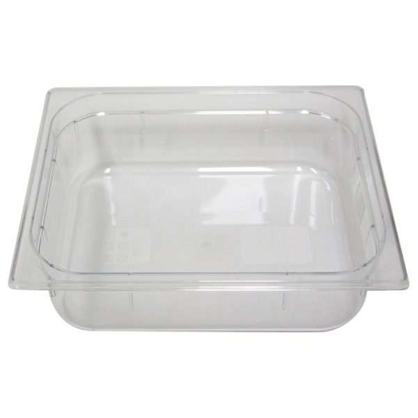 Polycarb PC-12100CL Gastronorm Clear Food Pans 1/2 100mm Deep