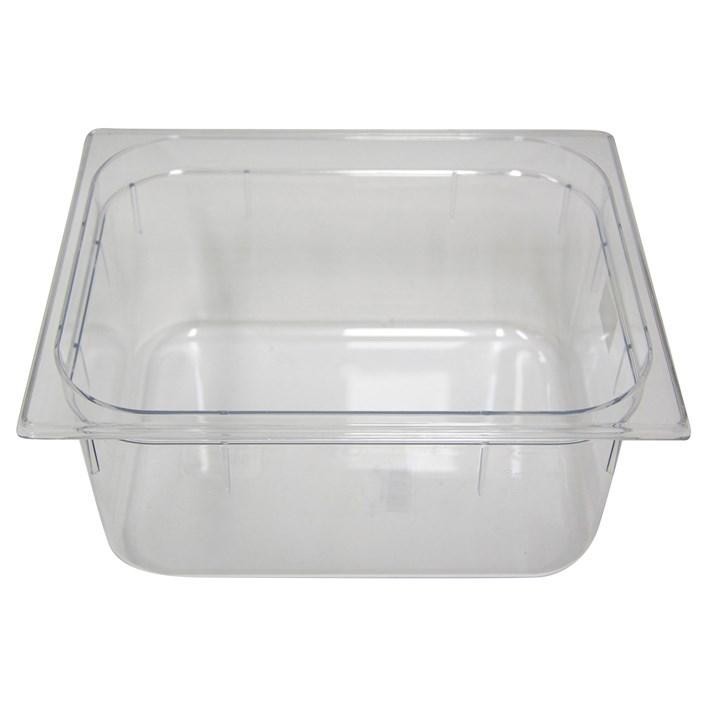Polycarb PC-12150CL Gastronorm Clear Food Pans 1/2 150mm Deep