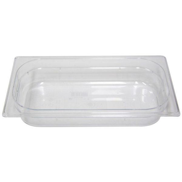 Polycarb PC-13065CL Gastronorm Clear Food Pans 1/3 65mm Deep