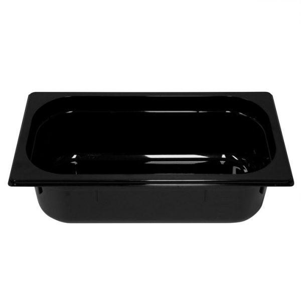 Polycarb PC-13100BK Gastronorm Black Food Pans 1/3 100mm Deep