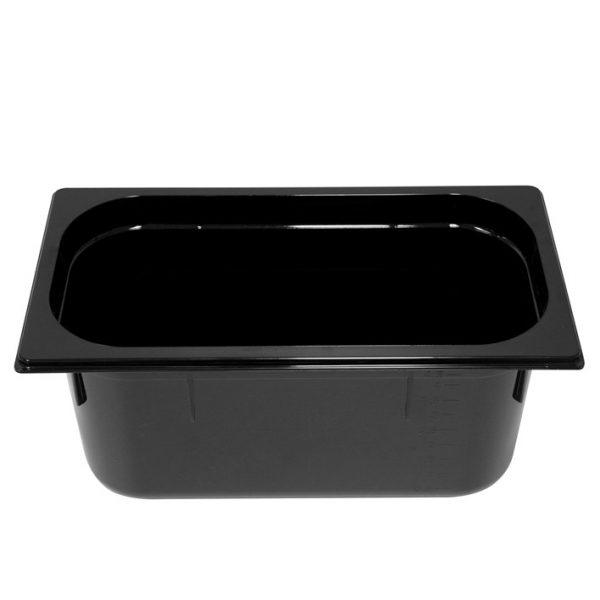 Polycarb PC-13150BK Gastronorm Black Food Pans 1/3 150mm Deep