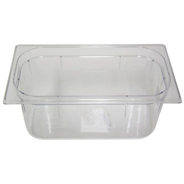 Polycarb PC-13150CL Gastronorm Clear Food Pans 1/3 150mm Deep