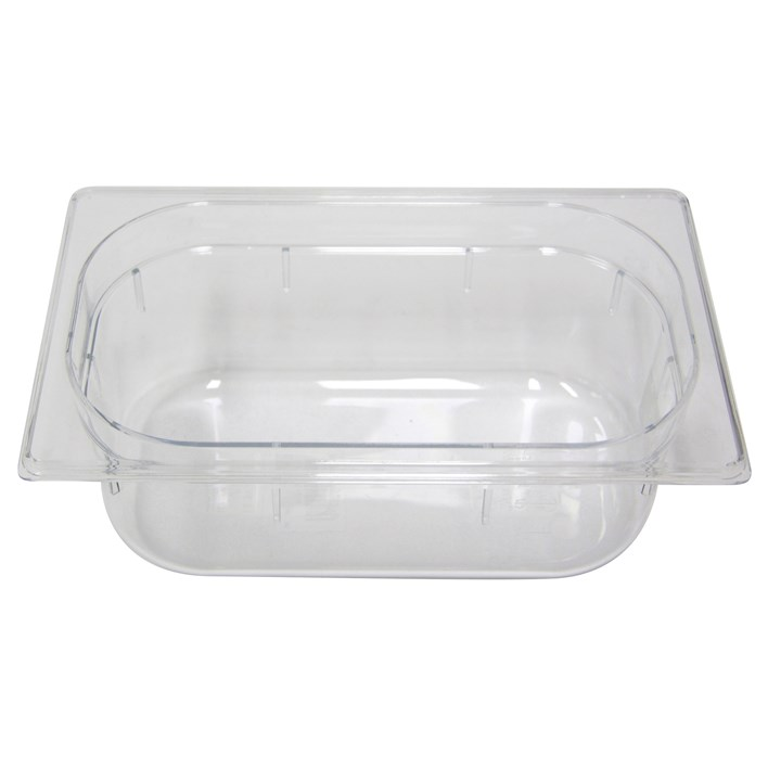 Polycarb PC-14100CL Gastronorm Clear Food Pans 1/4 100mm Deep