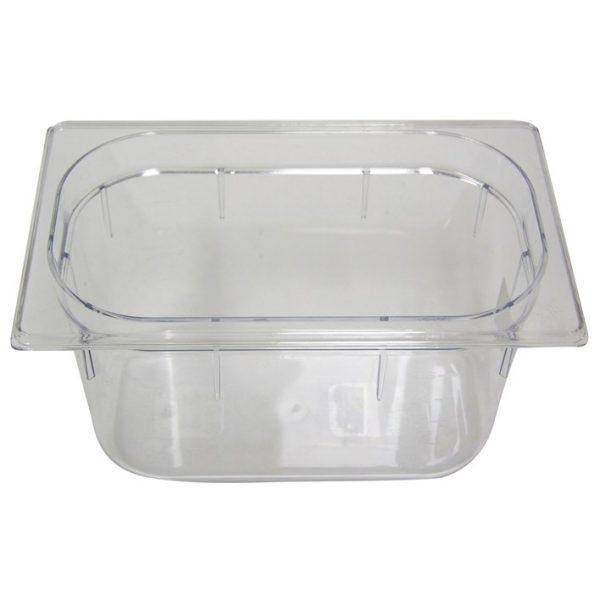 Polycarb PC-14150CL Gastronorm Clear Food Pans 1/4 150mm Deep
