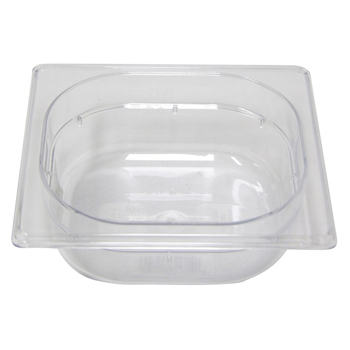 Polycarb PC-16065CL Gastronorm Clear Food Pans 1/6 65mm Deep