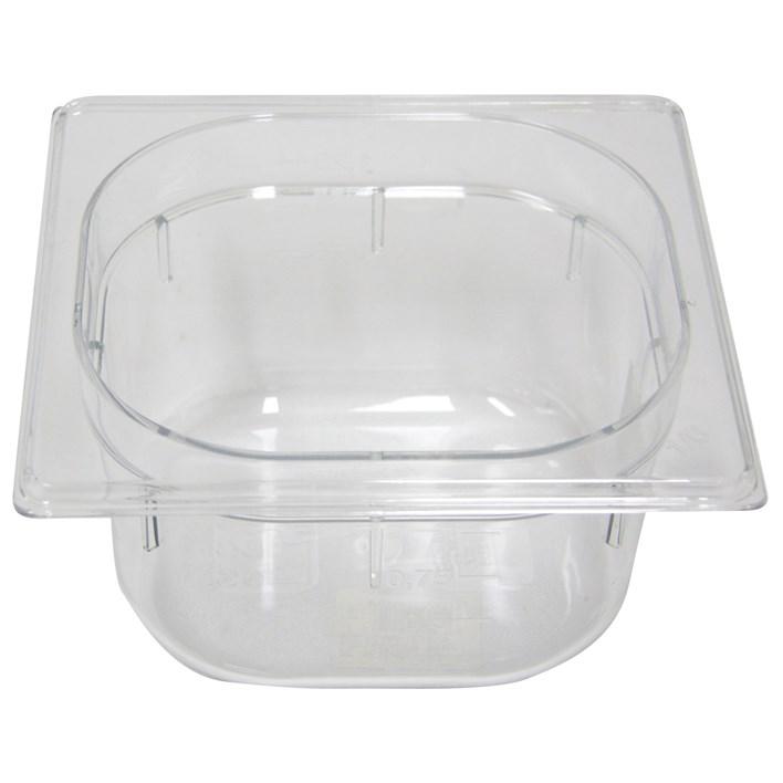 Polycarb PC-16100CL Gastronorm Clear Food Pans 1/6 100mm Deep