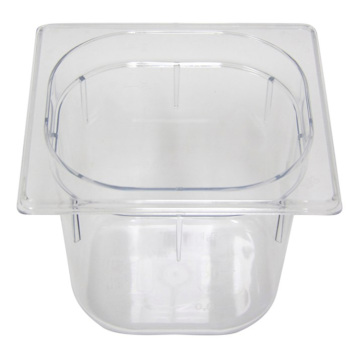Polycarb PC-16150CL Gastronorm Clear Food Pans 1/6 150mm Deep