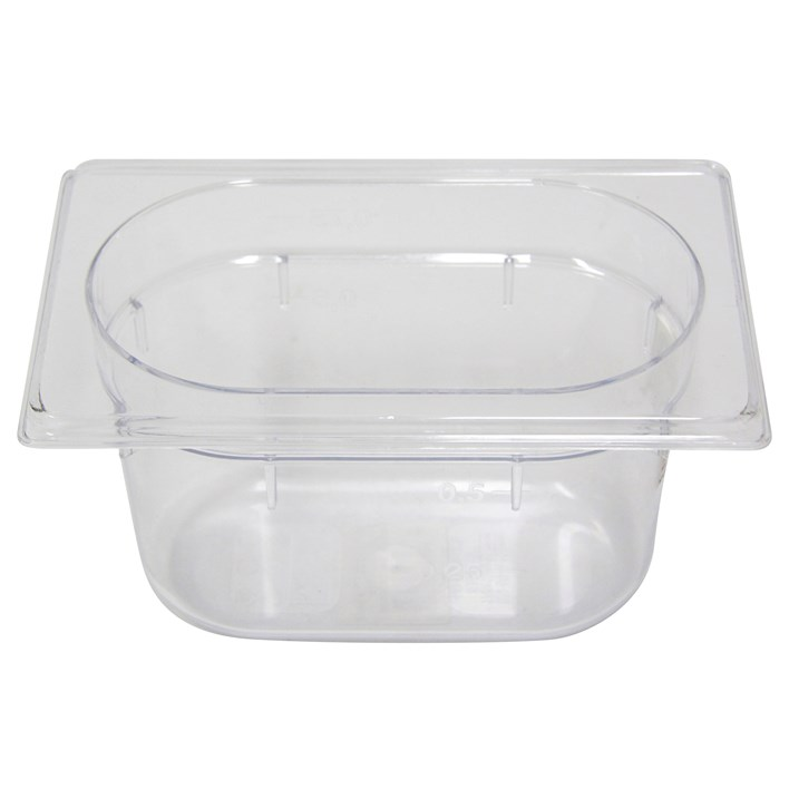 Polycarb PC-19100CL Gastronorm Clear Food Pans 1/9 100mm Deep