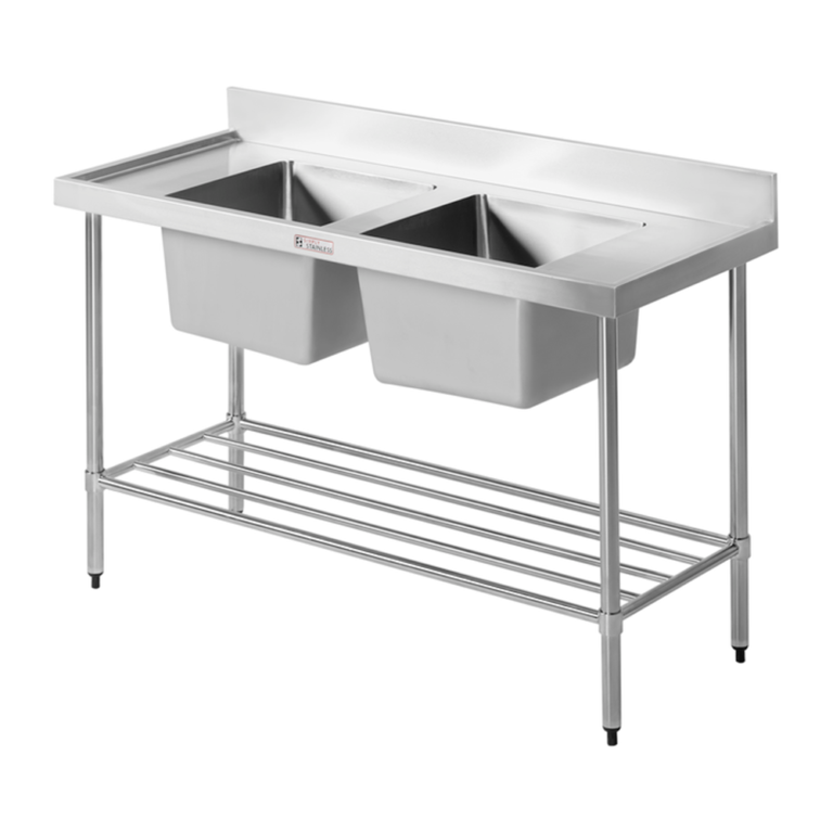 Simply Stainless S/Steel Sink Bench SS06.7.1500 (Double Sink) -1500mm
