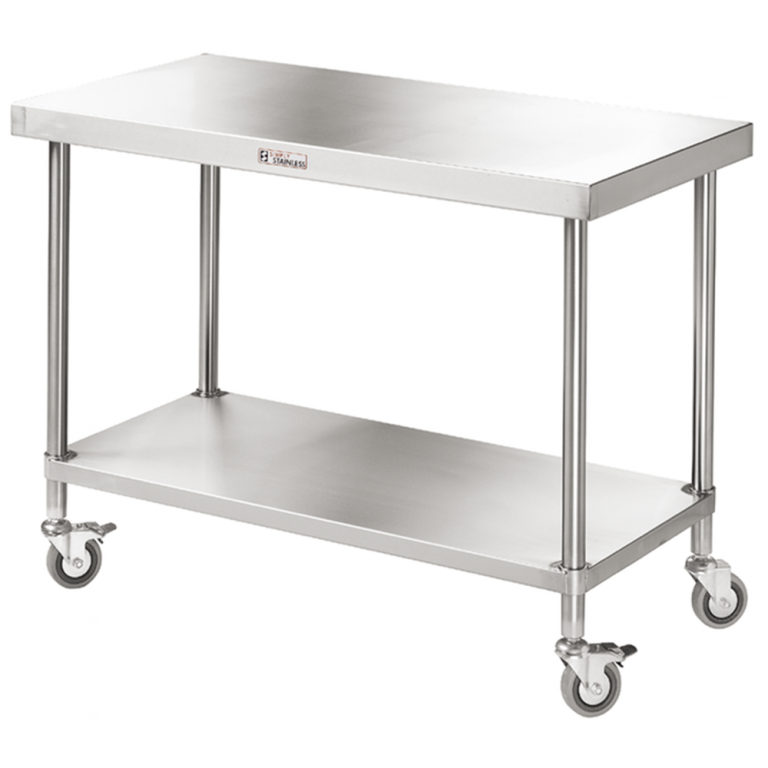 Simply Stainless S/Steel Mobile Island Bench – 900mm