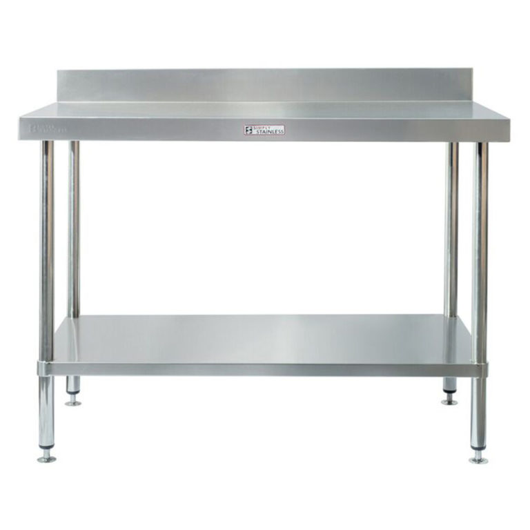 Simply Stainless S/Steel Bench with Splashback SS02.7.2100 – 2100mm