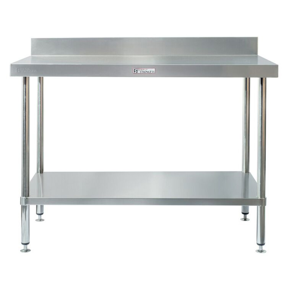 Simply Stainless S Steel Bench With Splashback 2100mm