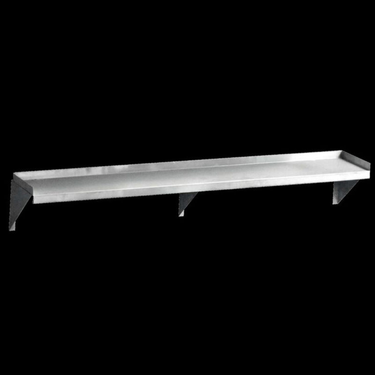 KSS S/Steel Solid Wall Shelf – 1200mm