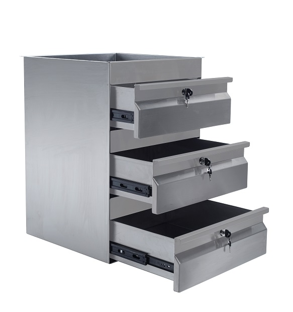 Simply Stainless S/Steel Drawer Triple Drawer SS19.0300