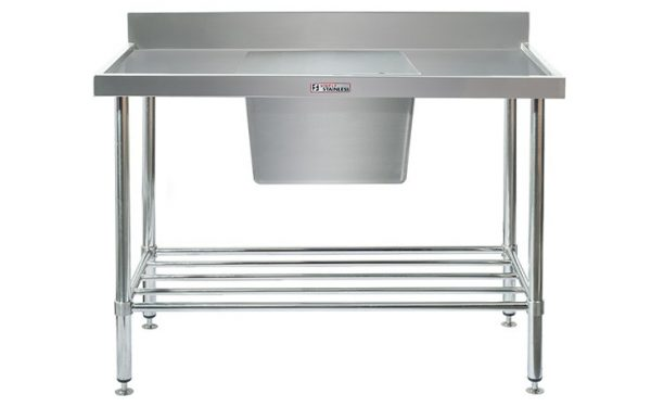Simply Stainless S/Steel Sink Bench SS05.7.1200C (Single Sink) Centre Bowl 1200mm