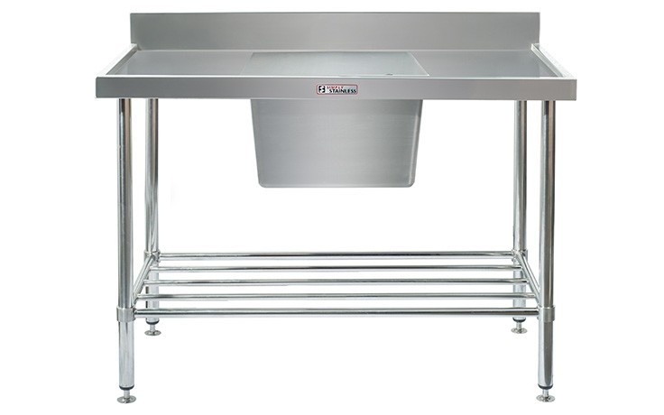 Simply Stainless S/Steel Sink Bench SS05.7.0600 (Single Sink) Centre Bowl