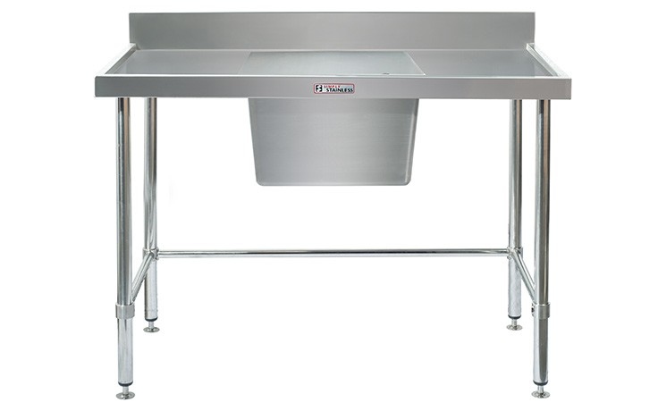 Simply Stainless S/Steel Sink Bench SS05.7.2100C (Single Sink) Centre Bowl 2100mm