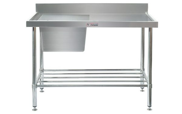 Simply Stainless S/Steel Sink Bench SS05.7.1200L (Single Sink) Left Hand Bowl 1200mm