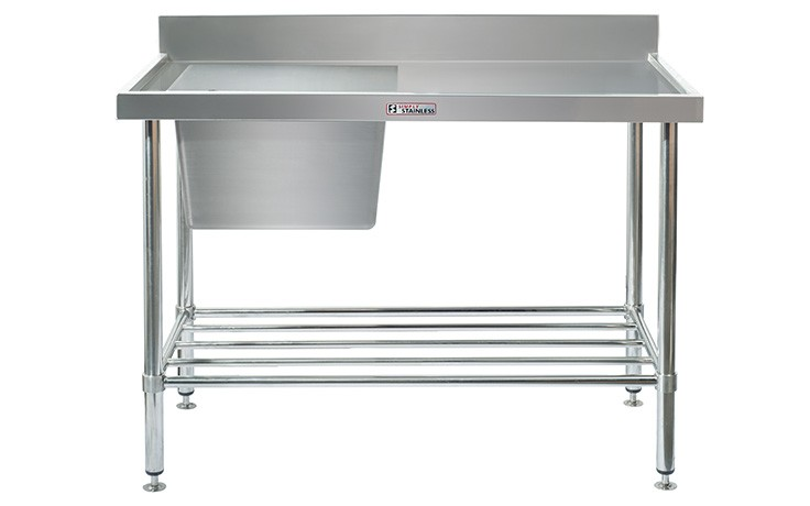 Simply Stainless S/Steel Sink Bench SS05.7.2100L (Single Sink) Left Hand Bowl 2100mm