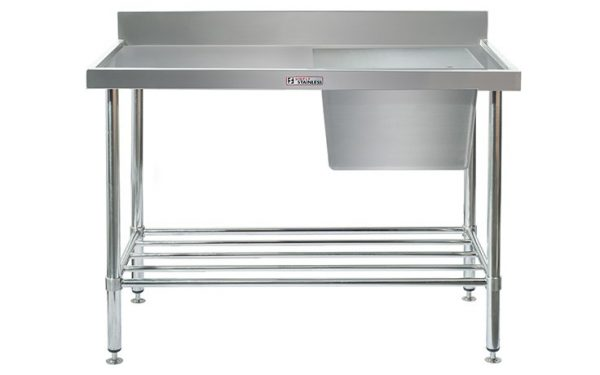 Simply Stainless S/Steel Sink Bench SS05.7.1200R (Single Sink) Right Hand Bowl 1200mm