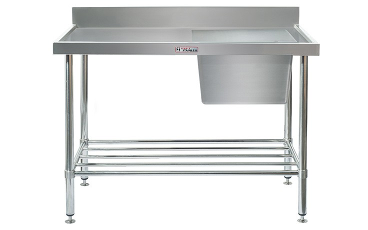 Simply Stainless S/Steel Sink Bench SS05.7.1800R (Single Sink) Right Hand Bowl 1800mm