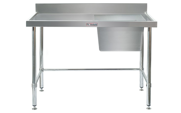 Simply Stainless S/Steel Sink Bench SS05.7.2100R (Single Sink) Right Hand Bowl 2100mm