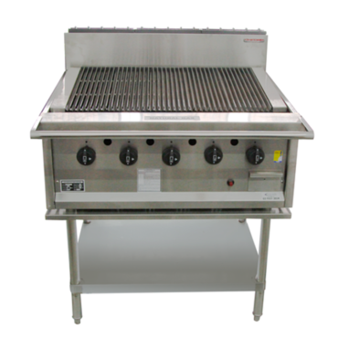 Oxford Rcgd Char Grill On Stand 5 Burners