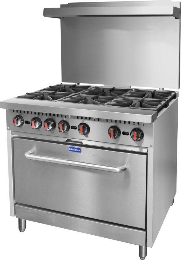 Gasmax S36(T) – 6 Burner Oven Range (Extra Large Oven)
