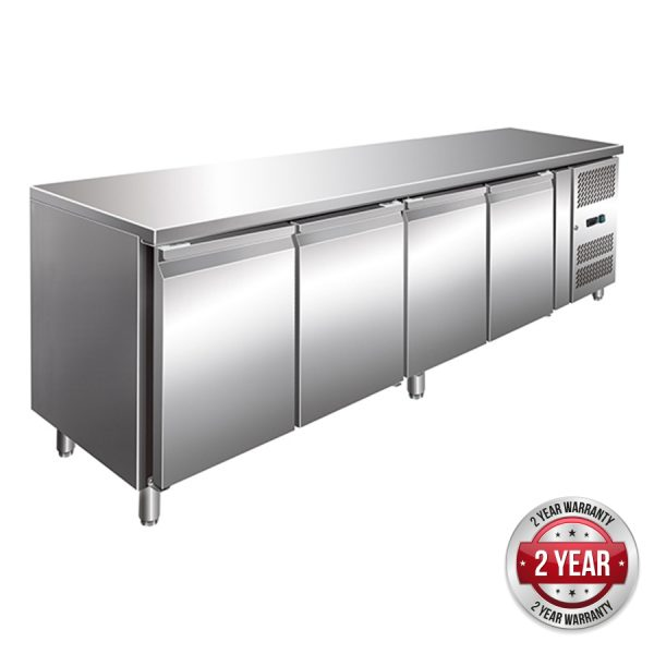 Thermaster GN4100TN Under-Counter Fridge (Four Door)