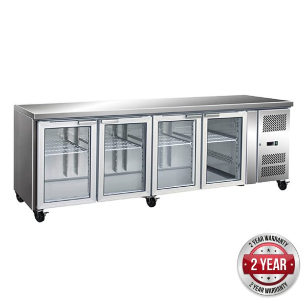 Thermaster GN4100TNG Under-Counter Fridge (Four Glass Door)