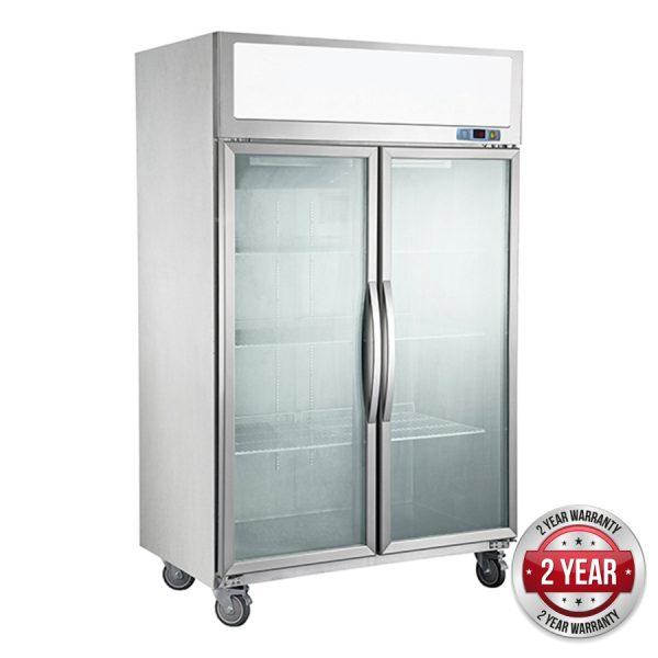 Thermaster SUFG1000 Two Glass Door Upright Freezer