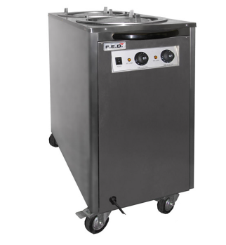 Federal DR-2 Mobile Heated Plate Warmer – Double Tube Dispensor