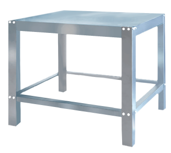 Stainless Steel Stand EP-2-1-S to suit Black Panther Pizza single deck Oven