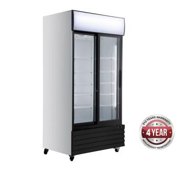 Thermaster LG1000BG 2 Door Upright Fridge – Black Fascia