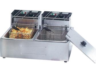 Benchstar TEF-82KW Twin Basket Fryer – 2 x 6 Litre