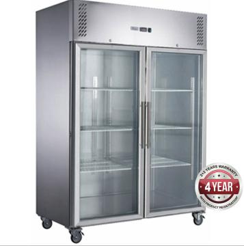 Fed-X  Upright Fridge XURC1410G2V – Glass 2 Door, 1410 Litre