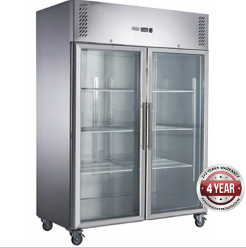 Fed-X  Upright Freezer XURF1200G2V – Glass 2 Door, 1200 Litre